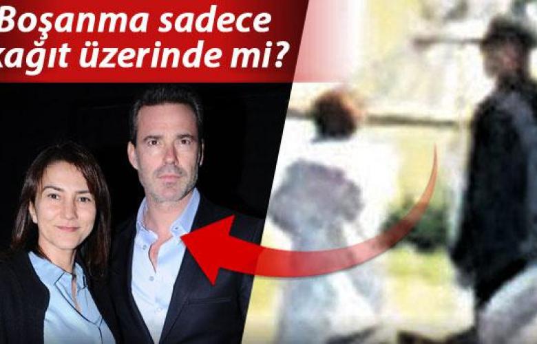 Murat Başoğlu ve boşandığı eşi Hande Bermek sahilde el ele! Boşanma göstermelik mi?