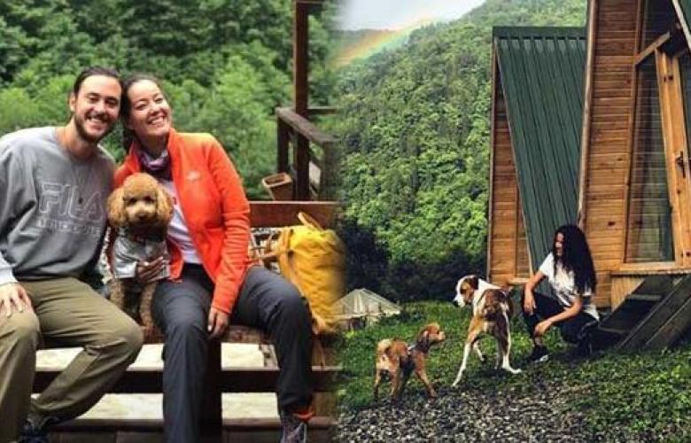 Pelin Akil ve eşi Anıl Altan'dan dağ başında romantik tatil