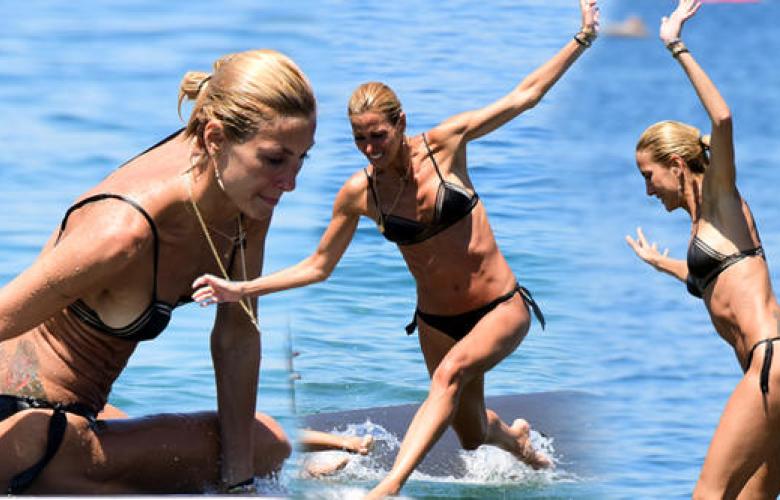 Çağla Şıkel'den sörf denemesi