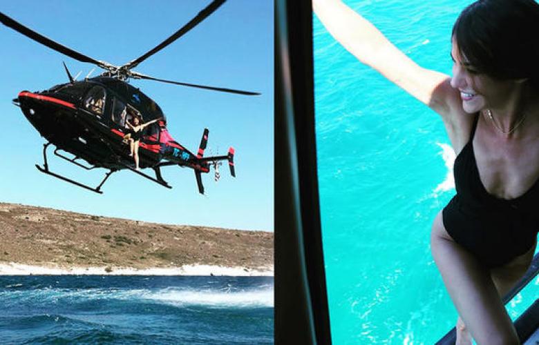 Yağmur Ünal helikopterden denize atladı!
