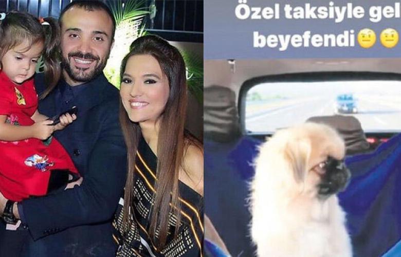 Demet Akalın köpeği için VIP araç kiraladı