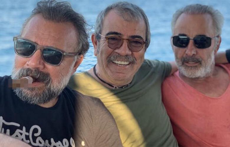 Oktay Kaynarca, Selçuk Yöntem ve Mehmet Aslantuğ Bodrum'da buluştu