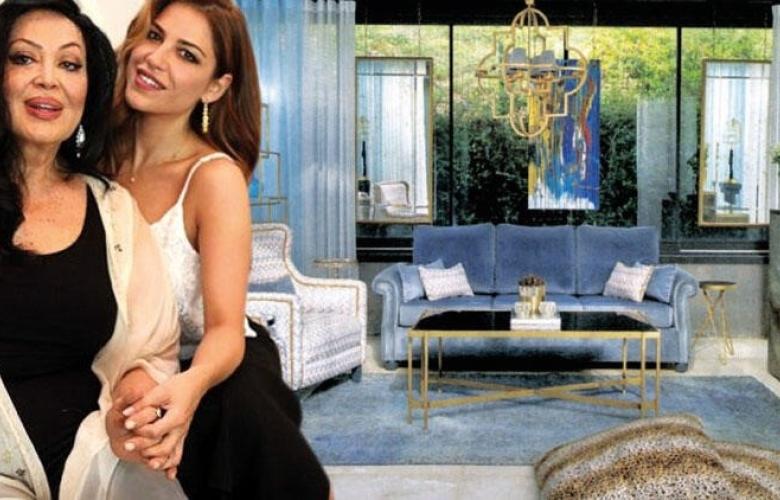 4 katlı 420 m2'lik villa... Türkan Şoray ve kızı Yağmur bu evde yaşıyor!