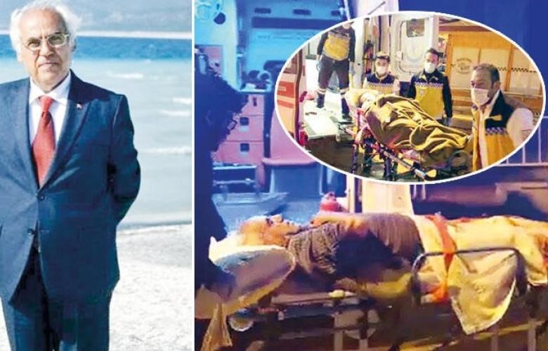 Salda Gölü'ne giren iş makinelerini kamuoyuna duyuran Yeşilova Belediye Başkanı Mümtaz Şenel ve eşine mafya kurşunu
