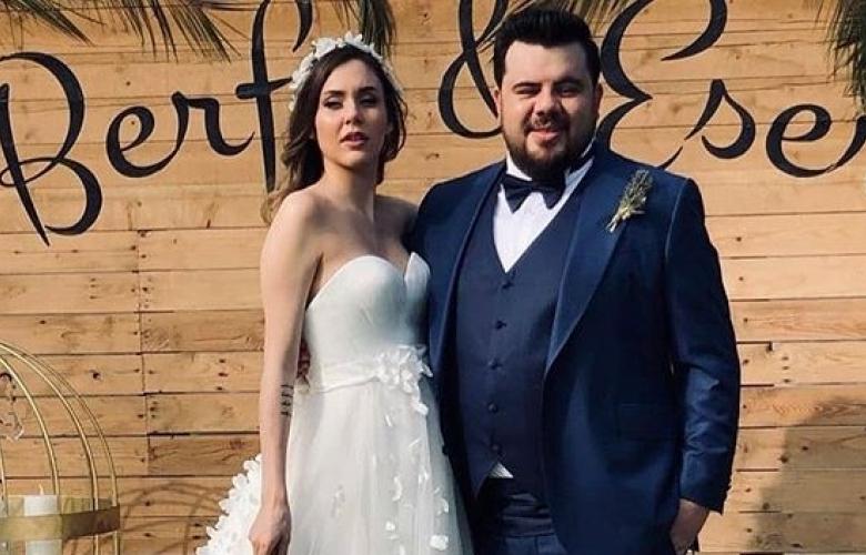 Eser Yenenler ve 4 aylık hamile Berfu Yıldız'ın düğünü...