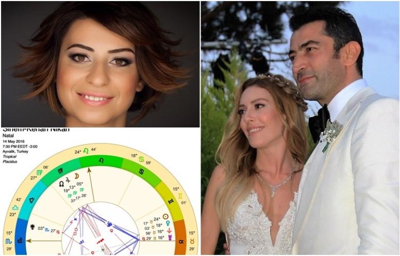 """Astrolog Sema Sidar, Sinem Kobal ve Kenan İmirzalıoğlu'nun """"nikah haritası""""nı çıkardı ve yorumladı! İşte çok konuşulan """"yılın evliliği""""nin analizi!"""