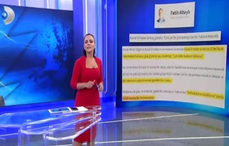 Kanal D haberin başarılı ismi Buket Aydın'dan Fatih Altaylı'ya hak ettiği yanıt ekrandan geldi!