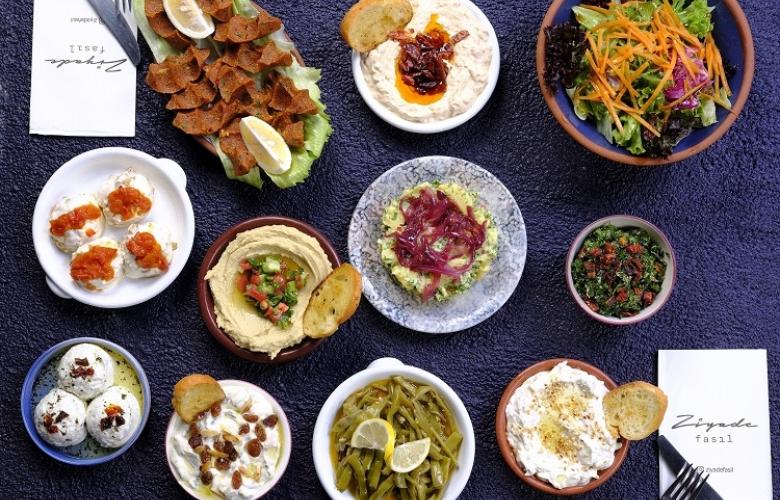 Kozyatağı Hilton'un Ziyade Fasıl'ının menüsünde  alışılagelmiş lezzetler yok...