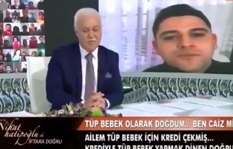 Nihat Hatipoğlu'nda beyin yakan tüp bebek sorusu