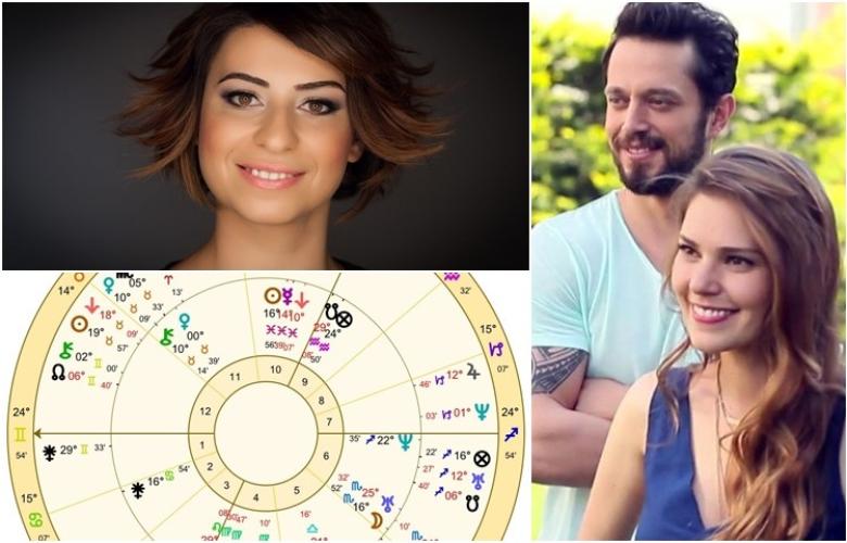 """Astrolog Sema Sidar, Murat Boz ve Aslı Enver'in """"aşk haritası""""nı çıkardı ve yorumladı! İşte çok konuşulacak """"yılın aşkı""""nın analizi!"""