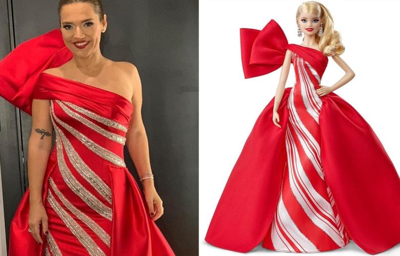 Demet Akalın kızının isteği üzerine Barbie kıyafeti giydi