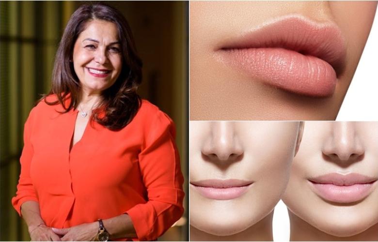"""Güzellik dünyasının 37 yıllık deneyimli ismi Ergül Keskin """"estetiksiz dolgun dudaklar"""" için """"dudak kontürü""""nü anlatıyor"""