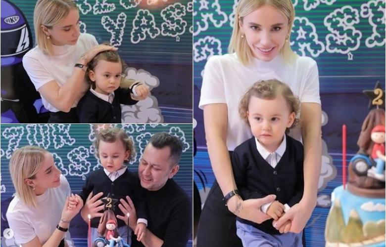 Gülşen'den oğlu Azur'a doğum günü partisi