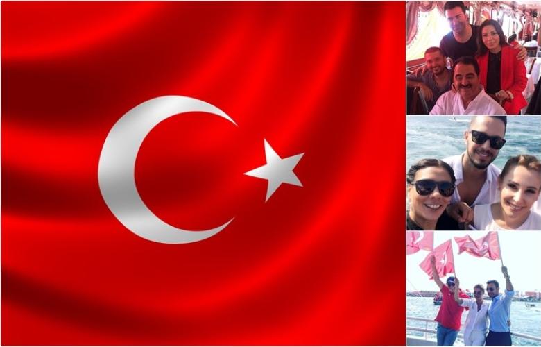 """Yenikapı'da tarihi """"DEMOKRASİ ve ŞEHİTLER MİTİNGİ""""ne katılan ünlüler."""
