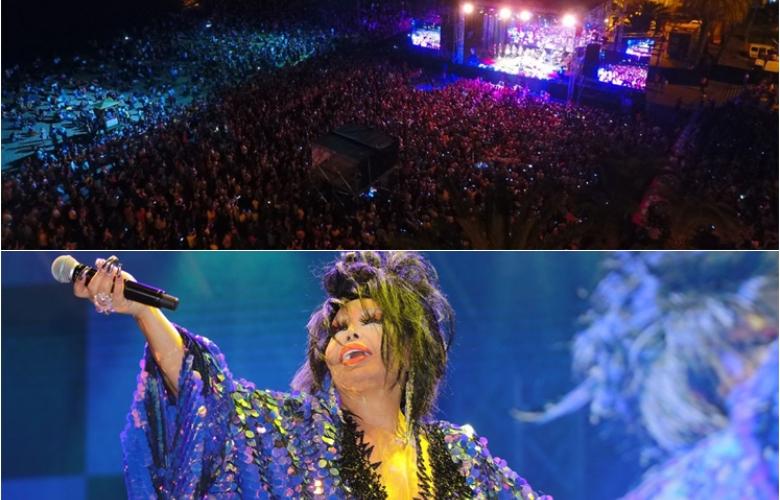 Bülent Ersoy Alanya'da 30 bin kişinin karşısına çıktı!