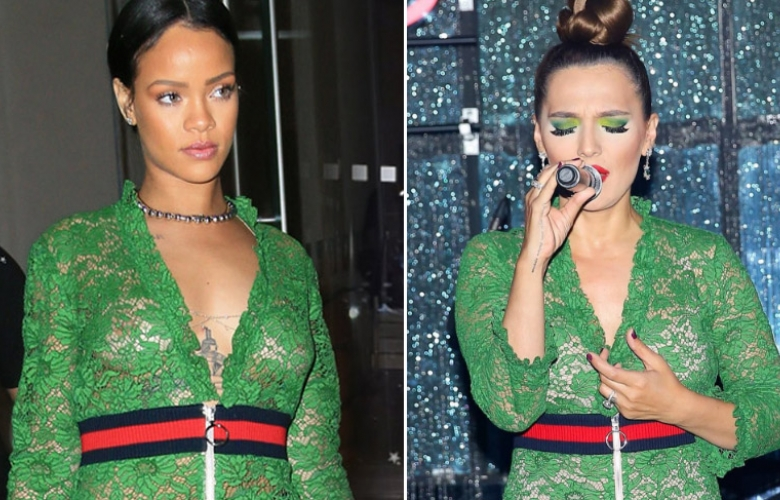 Demet Akalın ve Rihanna aynı elbiseyle!