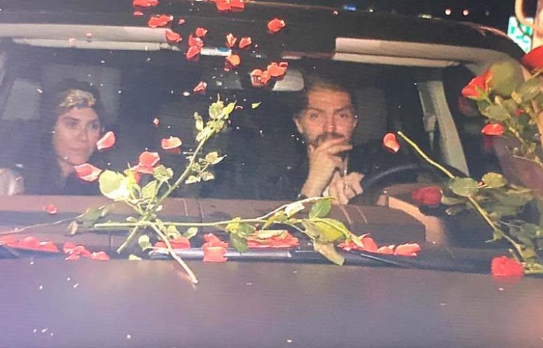 Caner Erkin-Şükran Ovalı çiftine çiçek yağdı!